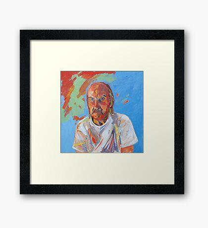 Portrait [Walt Evans ] madvlad ]of a very talented R.B.painter  Framed Print