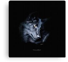 """""""The Look Back"""" Timber Wolf Portrait Canvas Print"""