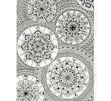 Pattern Black and White Mandala Photographic Print