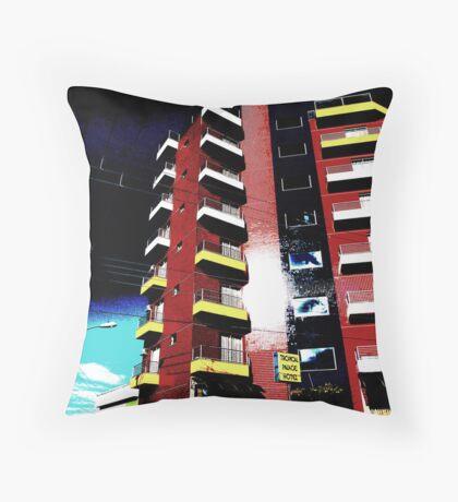Pop Art Hotel, Brazil Throw Pillow