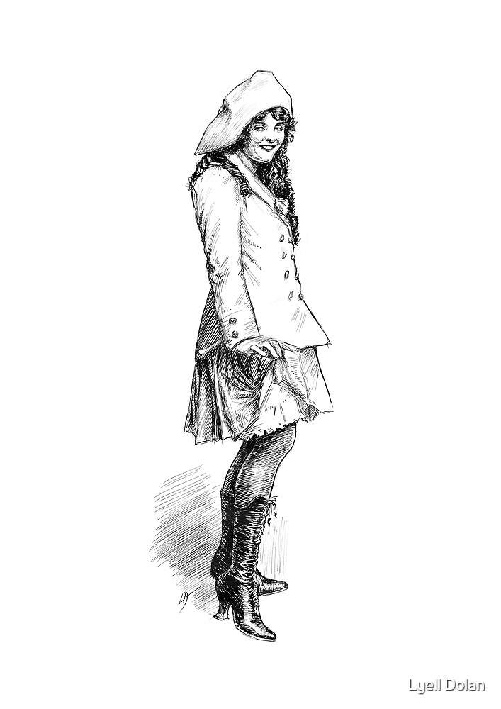 Girl In Boots by Lyell Dolan