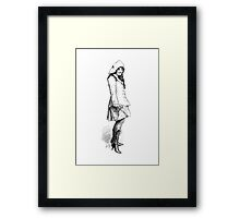 Girl In Boots Framed Print