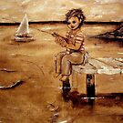 Little Boy Fishing by DalunE Khoang