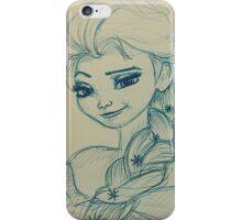 Elsa, Walt Disney Frozen, Pencil iPhone Case/Skin