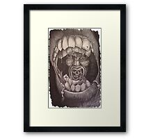 Into the mouth of madness Framed Print