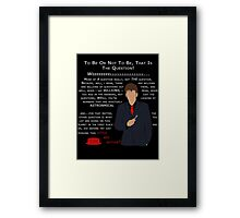 Little Red Button Framed Print