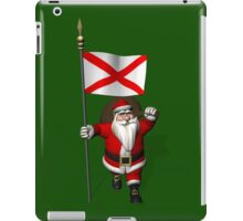 Santa Claus With Flag Of Alabama iPad Case/Skin