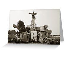 Vietnam War Scraps Greeting Card