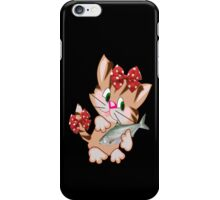 Kitty with Fish T shirt  , Tote bag and pillow (2833 Views) iPhone Case/Skin
