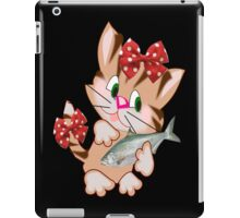 Kitty with Fish T shirt  , Tote bag and pillow (4328 Views) iPad Case/Skin