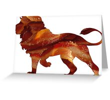 Lion Bacon Greeting Card