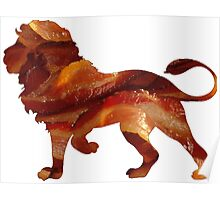 Lion Bacon Poster
