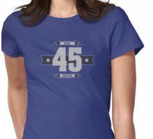 B-day 45 (Light&Darkgrey) Womens Fitted T-Shirt