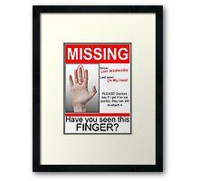 Missing Finger Framed Print
