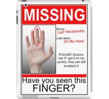 Missing Finger iPad Case/Skin