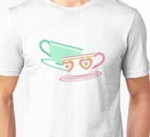Mad Tea Party Teacups - Pink & Green Unisex T-Shirt