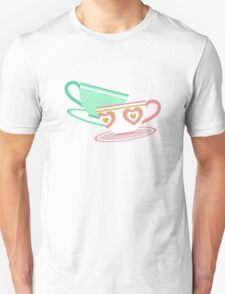 Mad Tea Party Teacups - Pink & Green T-Shirt