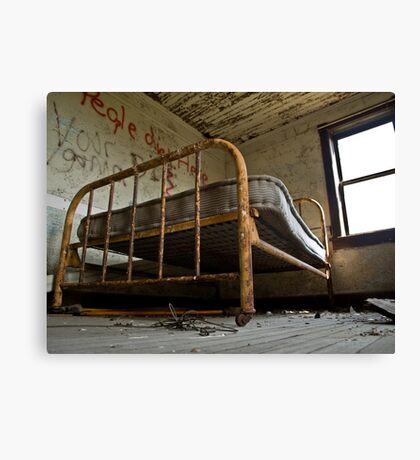 Death Bed Canvas Print