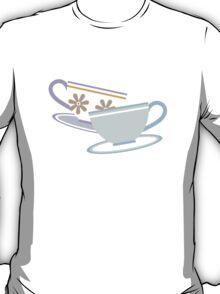 Mad Tea Party Teacups - Purple & Blue T-Shirt