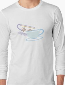 Mad Tea Party Teacups - Purple & Blue Long Sleeve T-Shirt