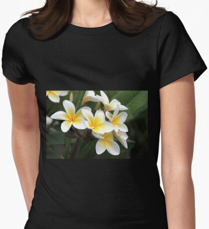 frangipani flower Womens Fitted T-Shirt