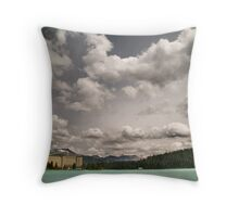 Fairmont chateau hotel in lake louise, Banff Throw Pillow
