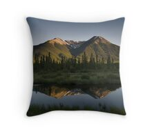 Reflection on the Vermillion lakes, Banff Throw Pillow