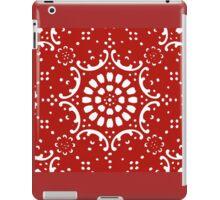 red background  iPad Case/Skin