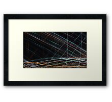 Sliding Lights Framed Print