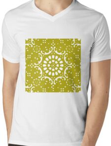 Gold background Mens V-Neck T-Shirt