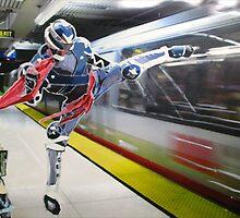 Hero at Bart Station by Tomoe Nakamura