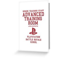 Senior Staff Advanced Room Playstation Battle Royale (Red) Greeting Card