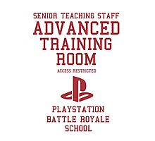 Senior Staff Advanced Room Playstation Battle Royale (Red) Photographic Print