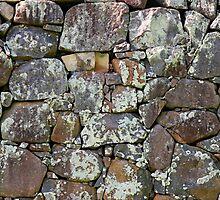 ancient grey stone wall by jymartin