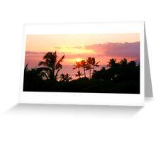 Hawaiin Sunset Greeting Card