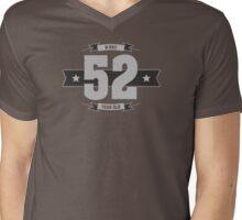 B-day 52 (Light&Darkgrey) Mens V-Neck T-Shirt