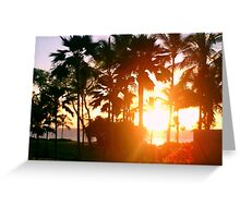 Hawaiin Sunset II Greeting Card