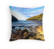 Port Quin Cornwall Throw Pillow