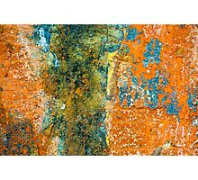 Colored Rust Metal Photographic Print