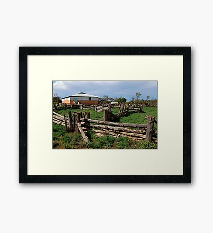 Historic Pastrol Shearing Shed, Canopus Framed Print