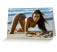 Beach Girl 7 Greeting Card