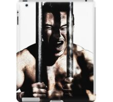 Drawing style of a man behind bars in prison style iPad Case/Skin