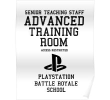 Senior Staff Advanced Room Playstation Battle Royale (Black) Poster