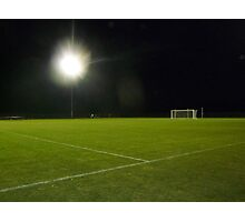 Soccer Under Stadium Lights Photographic Print