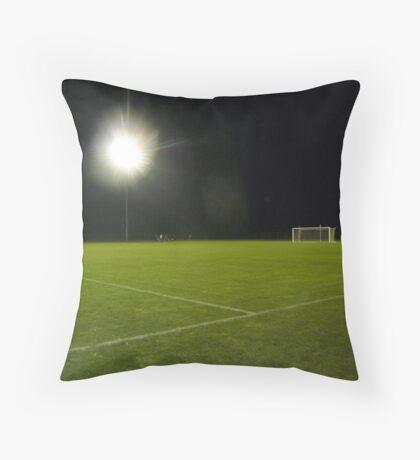 Soccer Under Stadium Lights Throw Pillow