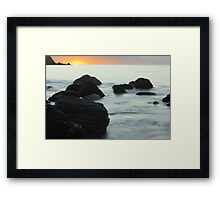 Myponga sunset - The Fleurieu Peninsula Framed Print