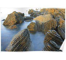 Coastal rocks - Myponga, South Australia Poster