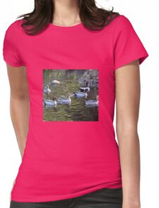 SWIMMING Womens Fitted T-Shirt