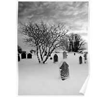 Winter in the Churchyard Poster