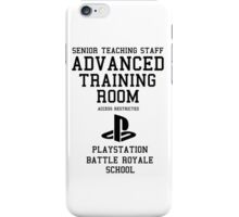 Senior Staff Advanced Room Playstation Battle Royale (Black) iPhone Case/Skin